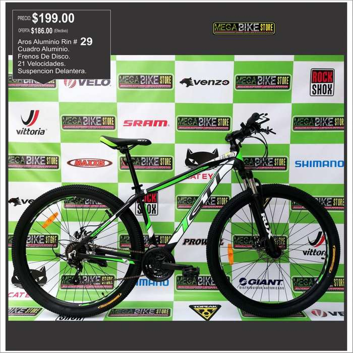Bicicleta Aro 29 Cambodia Aluminio , Rin 29 , Frenos Disco, suspension, GTI NVERDE