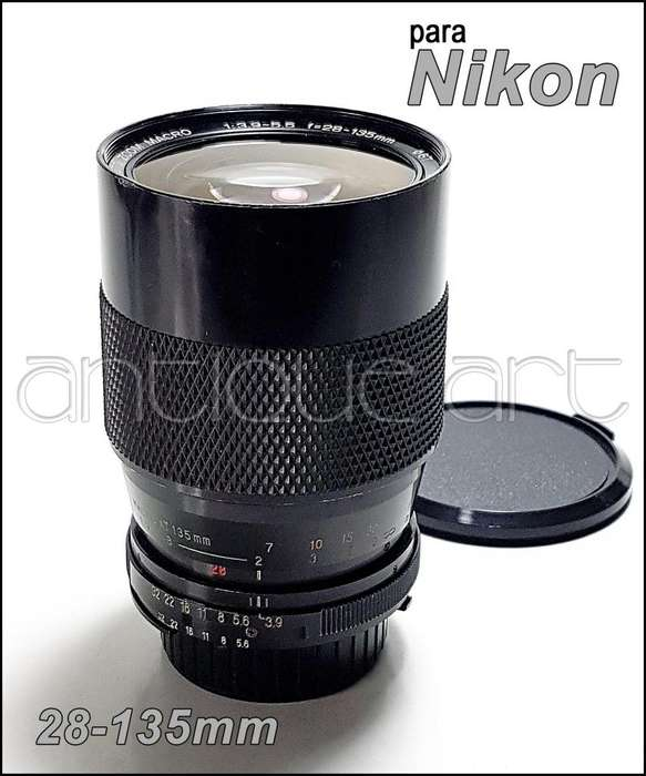 A64 Lente 28-135mm Zoom Manual Macro Para Nikon Detalle