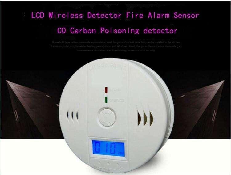 Detector Sensor Alarma Monóxido de Carbono inalambrico