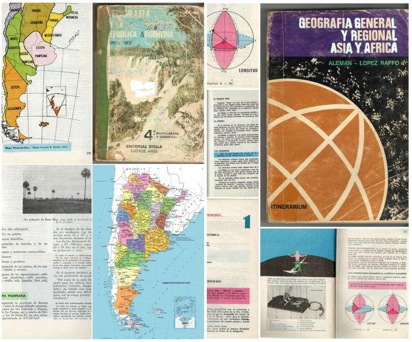 2 Libros Geografía Argentina General Asia Africa Liquido!