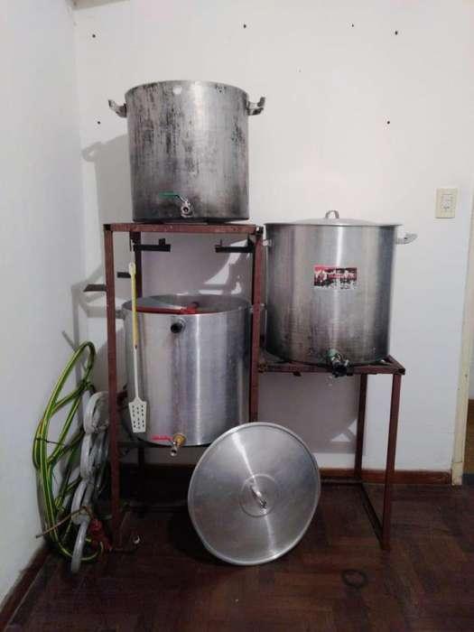 Equipo de cocción cerveza artesanal 100L