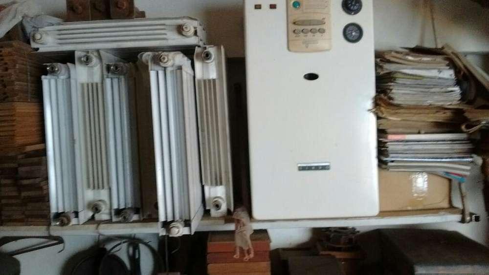 Caldera con <strong>radiador</strong>es