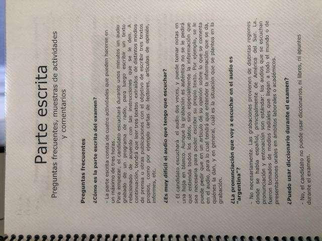 Material de estudio examen de dominio de español CELU
