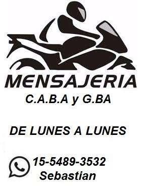 Mensajeria y cadeteria en moto (de lunes a lunes)
