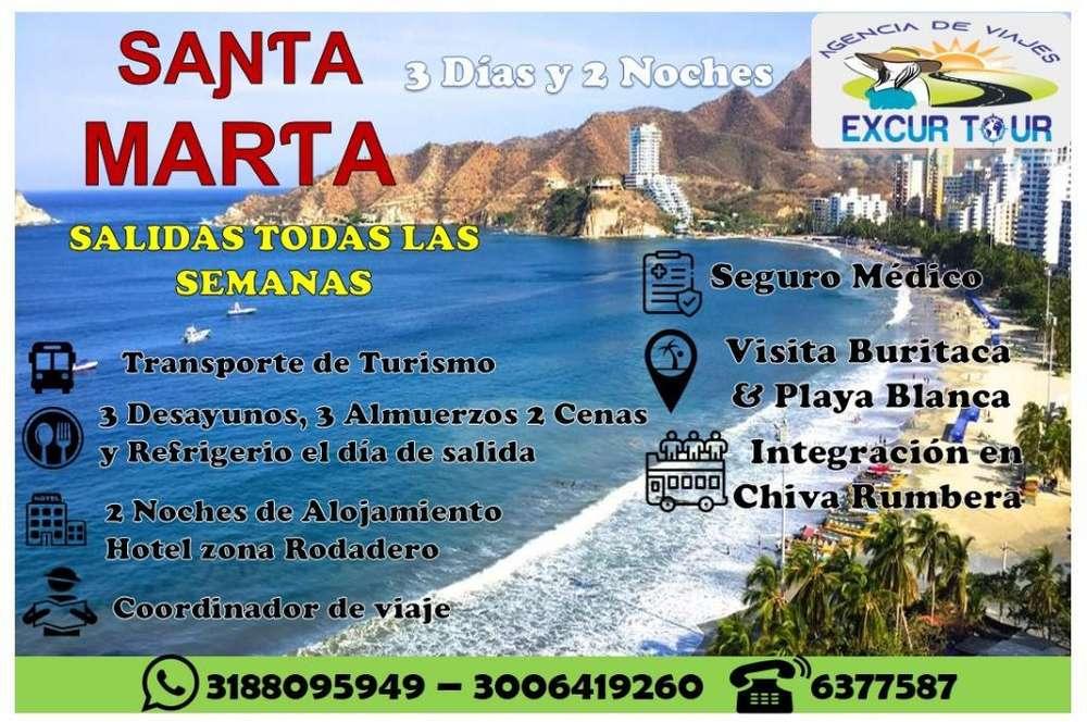 Tour Santa Marta Salida de Bucaramanga