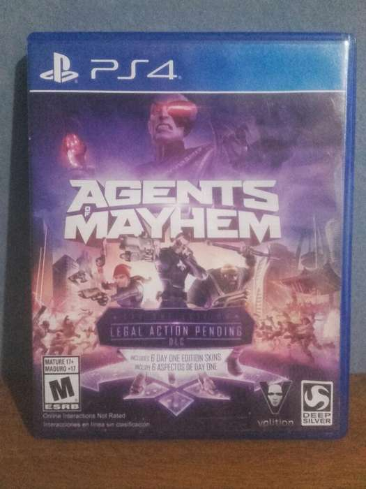 Agent Of Mayhem Ps4 Impecable