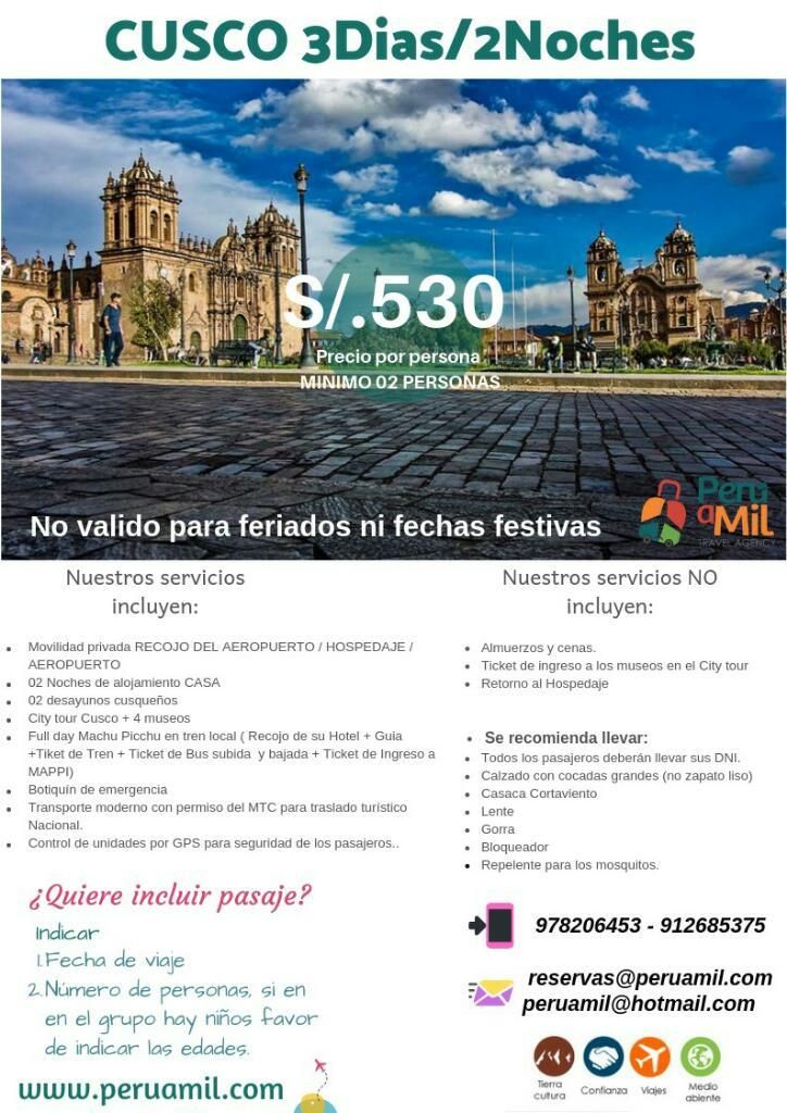 Cusco 3dias/2noches