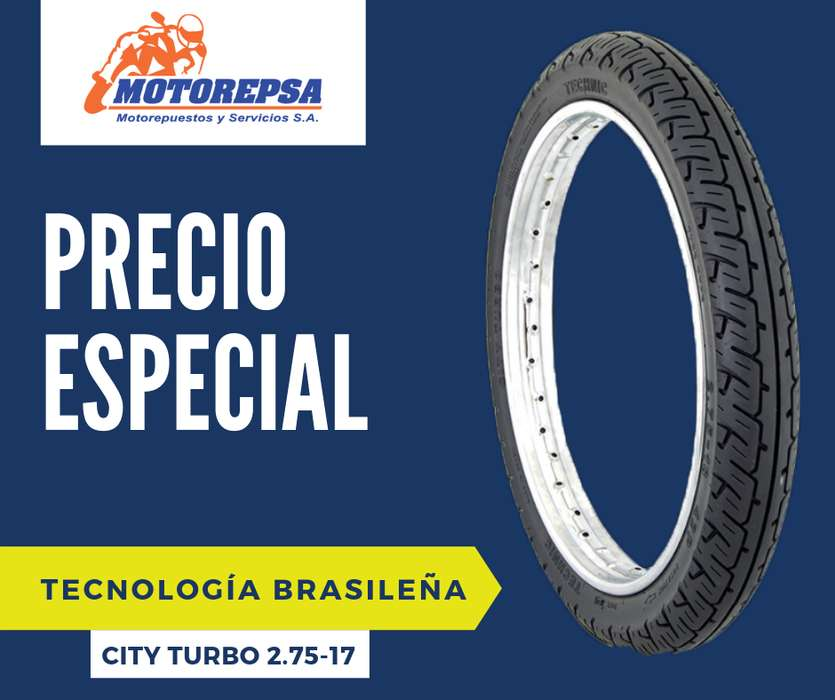 Llanta TECHNIC City Turbo 2.75/17 para Moto <strong>honda</strong> C100 DREAM, SHINERAY, JET, NEW WAVE125, DAFR y similares