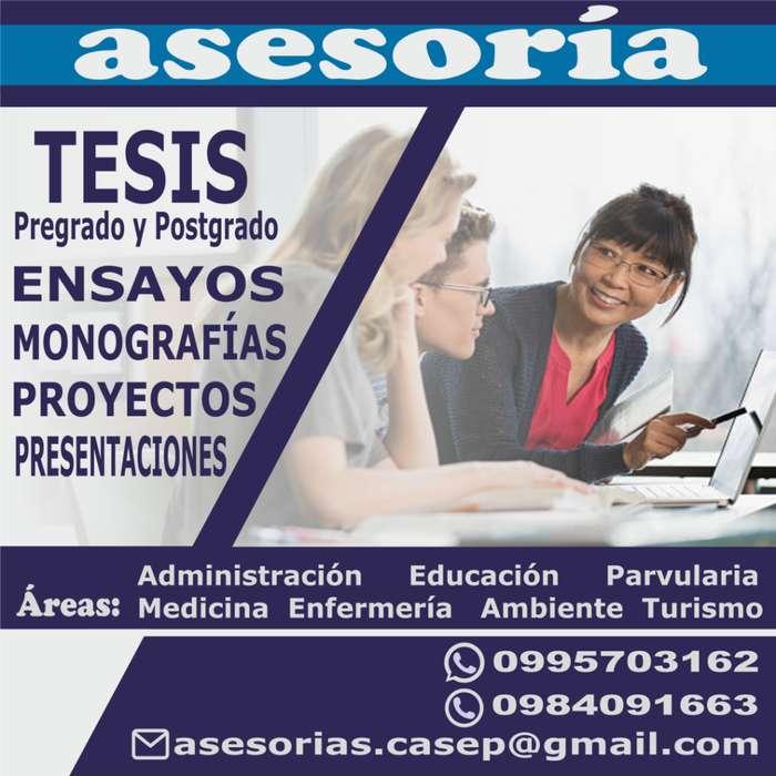 Asesoría personalizada de Tesis,Ensayo,Artículo Científico, Monografía