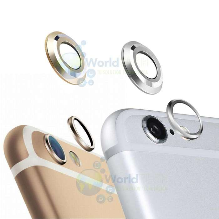 Anillo Borde Lente Vidrio Camara Posterior Iphone 6 6s Instalada