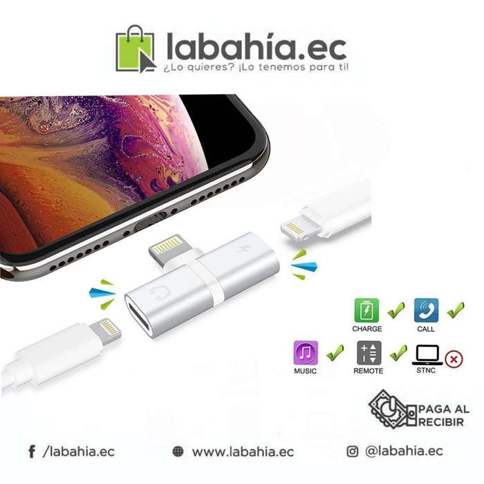 IPhone splitter para carga y audio simultánea