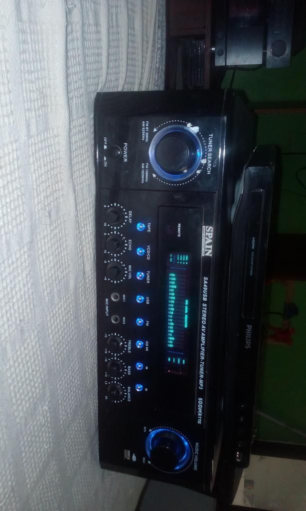 Amplificador spain con usb am y fm