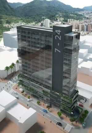 Torres de trece pisos de oficinas, oficinas con imagen moderna y actual, plataforma de cuatro pisos  31651