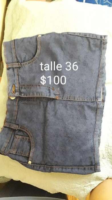 Pollera de Jeans Elastizada