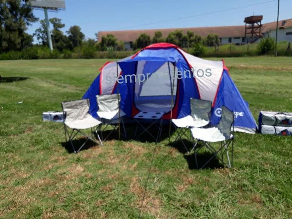 Combo Carpa 4/6 Personas Eden sillas Y Mesa Camping