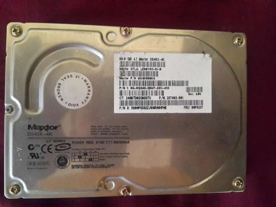 Disco Duro Maxtor 80gb <strong>pc</strong> Escritorio