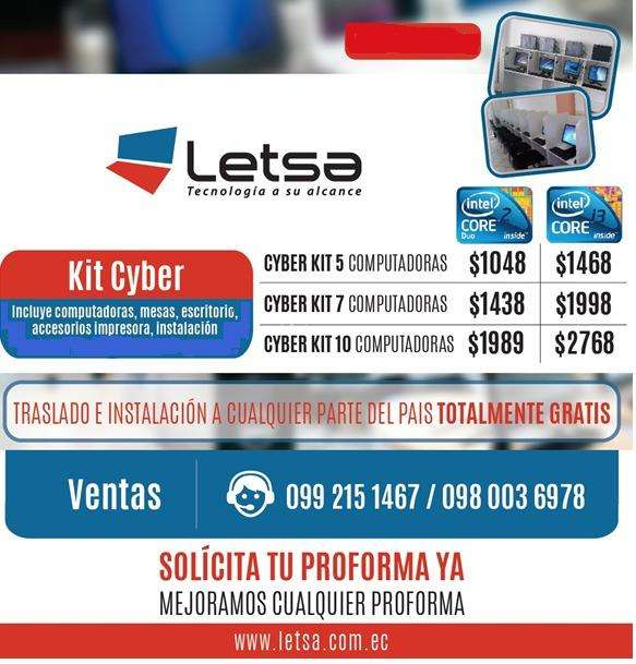 KIT 4 COMPUTADORAS CORE i3 1170 DE OFERTA !!!!!!