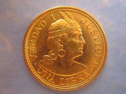 Monedas de Oro solido ley 22 quilates de Una Libra