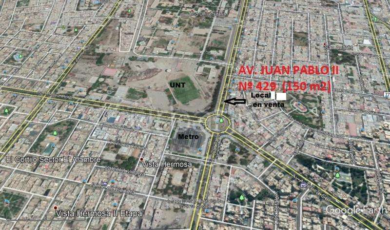 VENTA DE LOCAL COMERCIAL 150 M2 EN TODA LA AVENIDA JUAN PABLO II Nº 429.