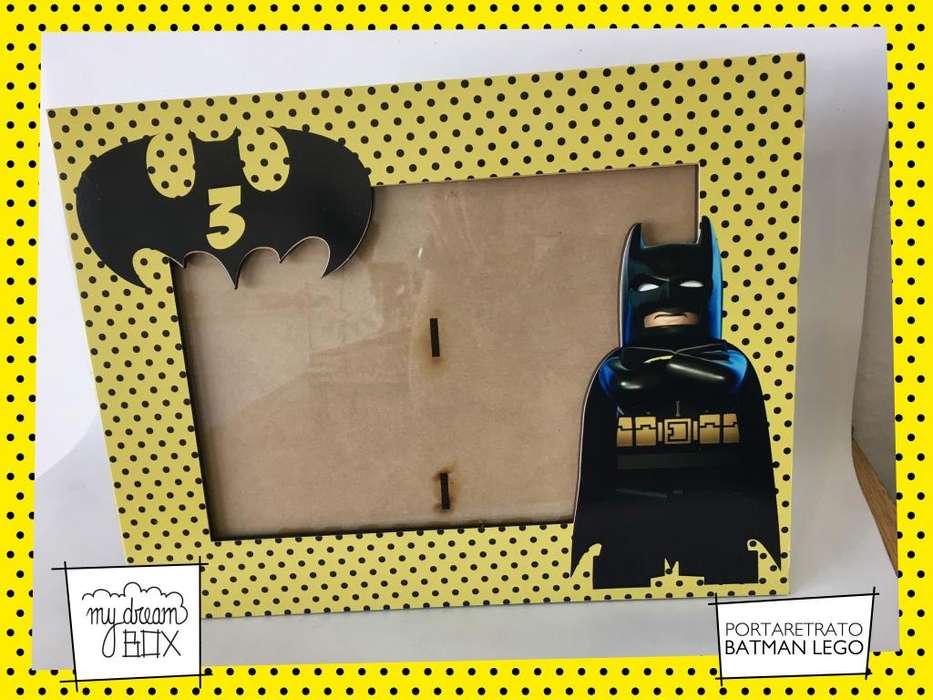 Portaretrato 8x10 cm Souvenir Personalizado Infantil Cumple Batman Heroes Lego