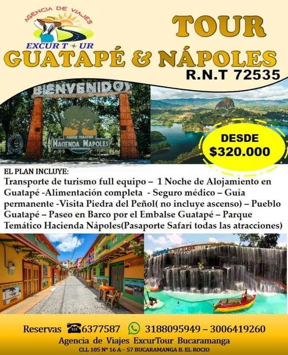 Tour Guatapé Nápoles Salida de Bucaraman