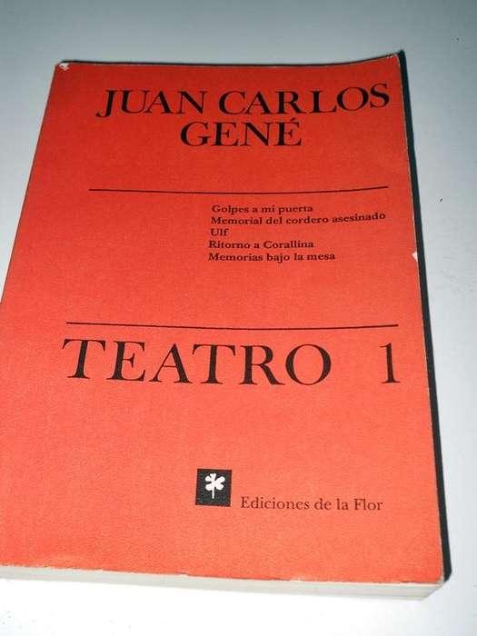 Juan Carlos Gene Teatro 1 Editorial de la Flor