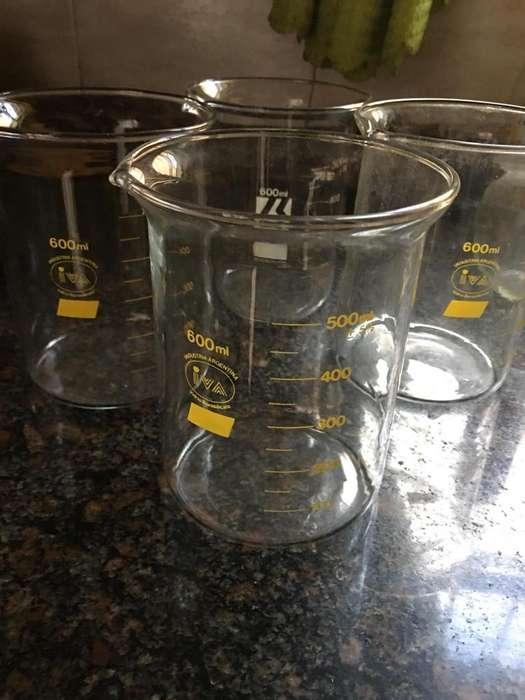 Vasos Vidrio Precipitado Laboratorio