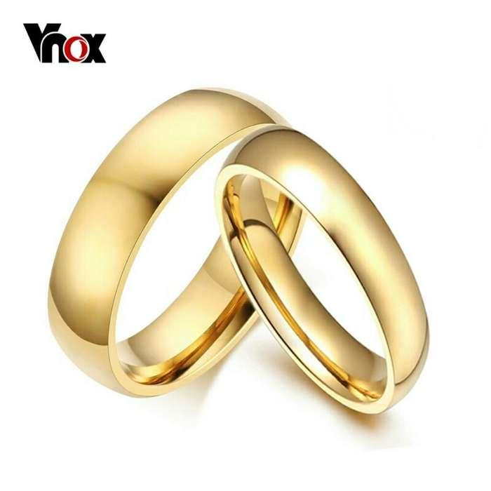 b142c5f0bc77 Aros de Matrimonio Oro 18k Y Plata 925 Boda Anillos Aniversario Ps4 Celular  Joyas Tv S6