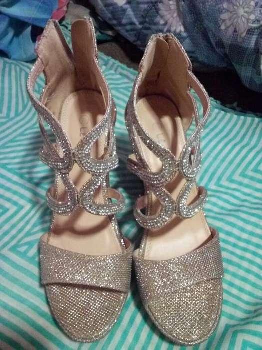 Sandalias Tacos, Zapatos Dorado