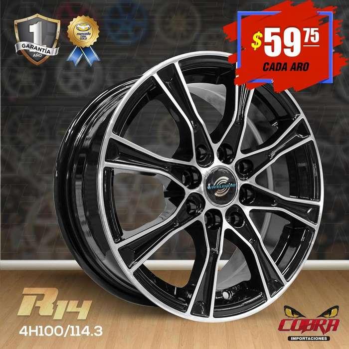 Aro Rin 14 Chevrolet Aveo Chevrolet Spark San Remo Nissan S_5