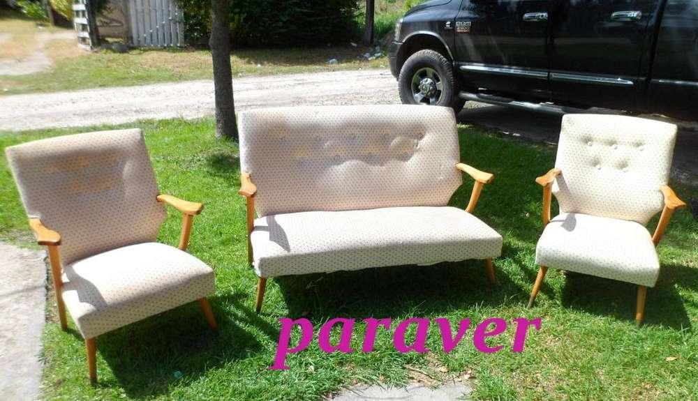 juego de <strong>living</strong> sillones de diseño retro vintage 60s muy buen est hay otros