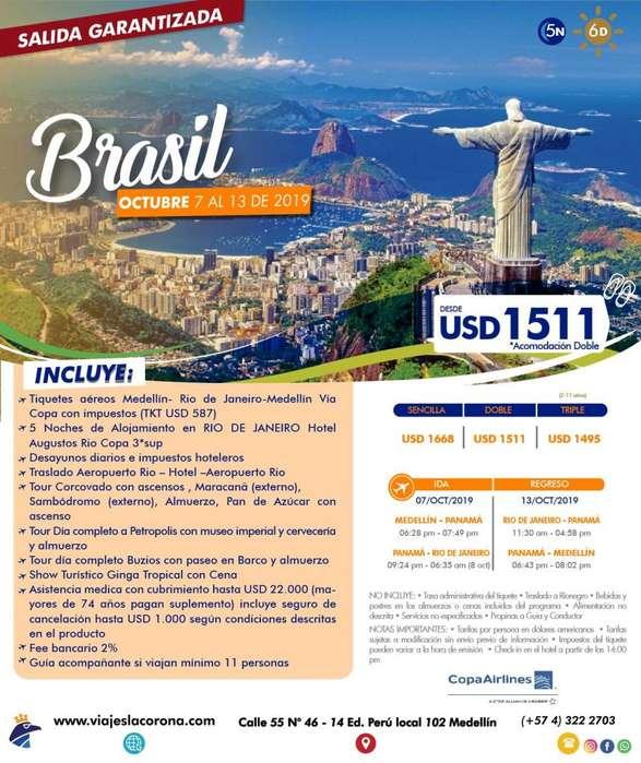 Viaje como un Rey a Brasil con Viajes la Corona octubre