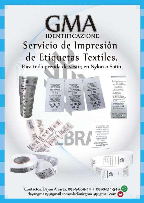 Servicio de Impresion de Etiquetas Textiles