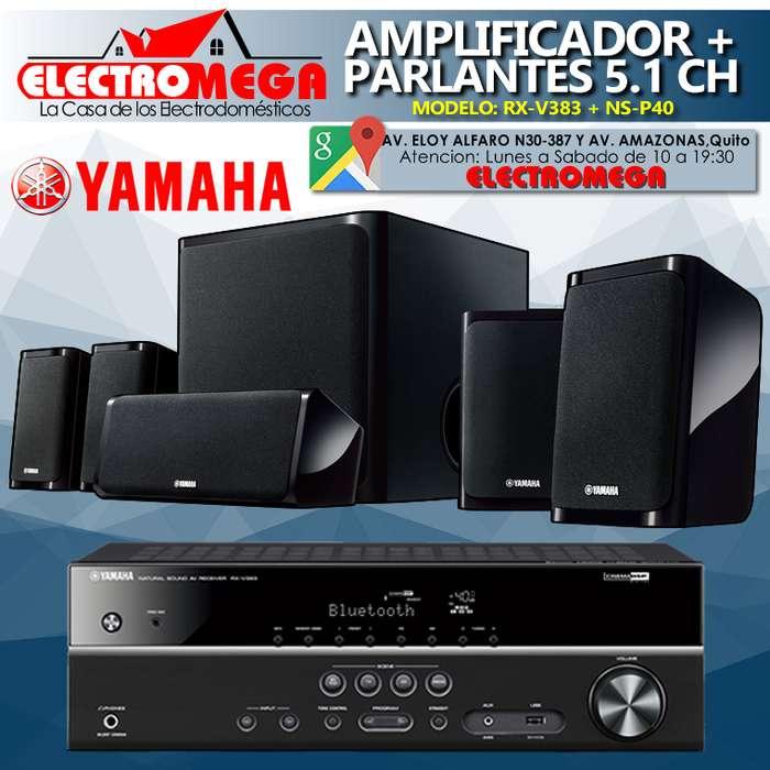 Amplificador Av 5.1 Ch Sistema De Parlantes Yamaha 550w