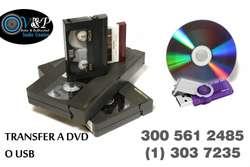 Convertir VHS BETA a DVD USB BLURAY Bogota Norte Digitalización a Domicilio