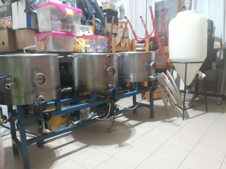 Equipo de acero inoxidable para elaborar cerveza artesanal