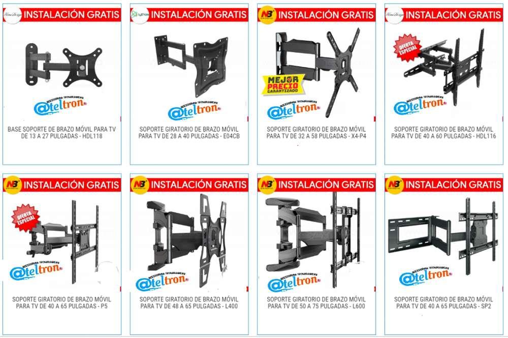 Bases soportes tv led lcd plasmas pedestales proyectores repisas gran variedad en oferta