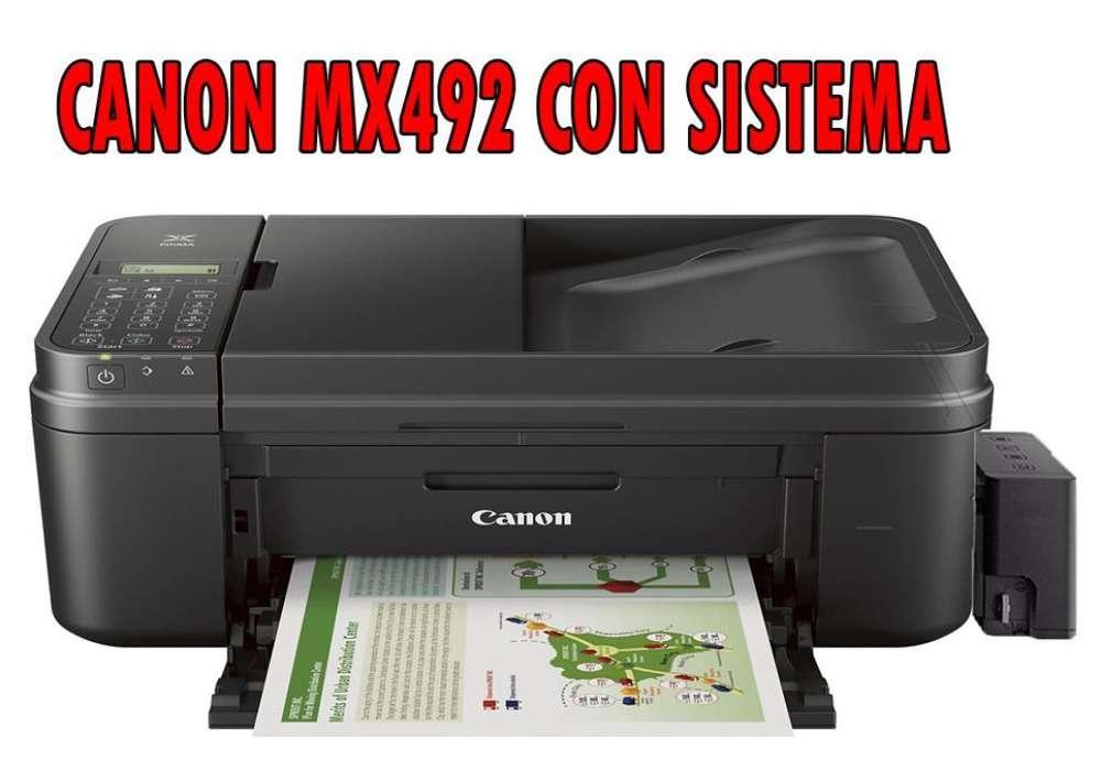 Impresora Canon Mx492 C.sistema Wifi Adf