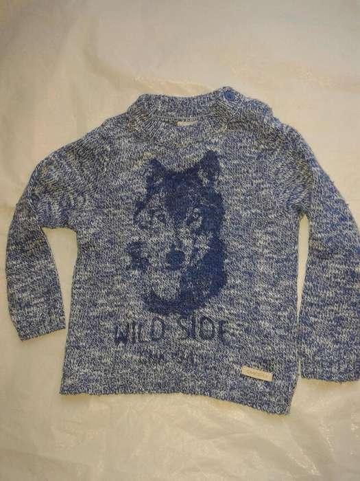 Sweaters <strong>cheeky</strong> 9.12mes tejido azul estampado perro nuevo
