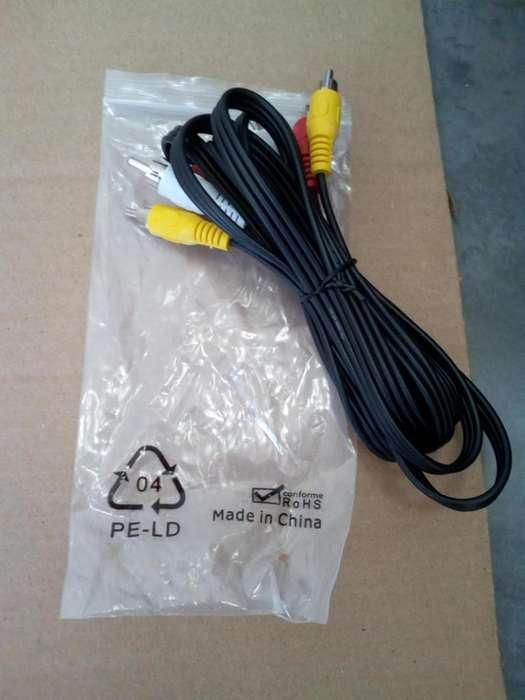 Cable Audio Y Video 3 A 3 Rca Construcción