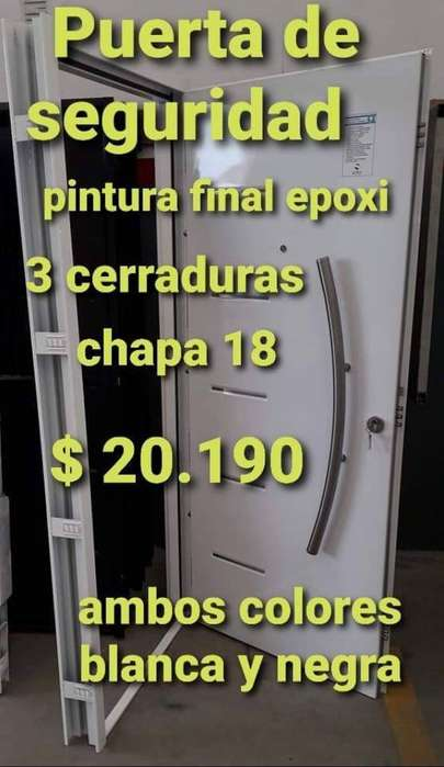 Puerta Seguridad Chapa 18