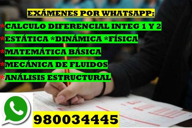 PROFESOR DE ANALISIS ESTRUCTURAL * MECANICA DE FLUIDOS *RESISTENCIA DE MATERIALES X WHATSAPP