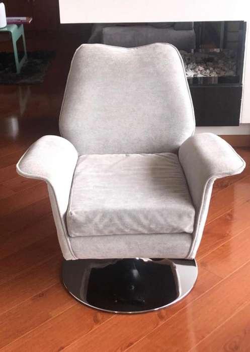 <strong>sillas</strong> giratorias, pata en cromo. X2