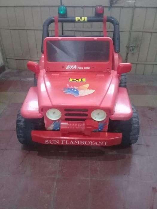 Autito jeep eléctrico sin batería
