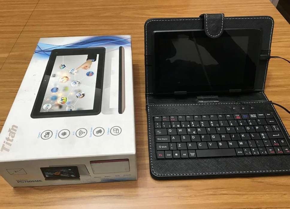 Tablet con Teclado Perfecto Estado