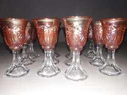 Antiguas Copas Licor de Carnival Glass