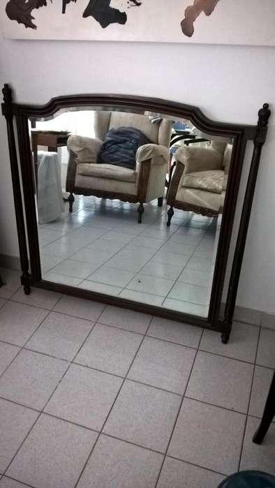 Espejo pared, con cristal 5 mm biselado c/marco tallado