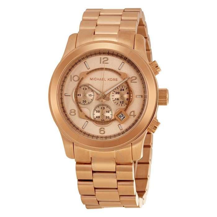 Reloj Michael Kors Oversized Oro Rosa Crono Unisex MK8096