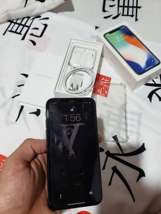 iPhone X Negro 64 Gb en Caja con Todo