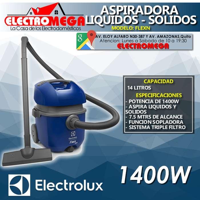 <strong>aspiradora</strong> Electrolux Solidos Y Liquidos 1400w Azul Flexn